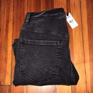 EXPRESS Super High Waisted Rise Black Skinny Jeans